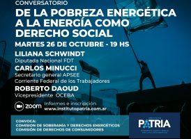 """Conversatorio  """"De la pobreza energética a la energía como derecho"""""""